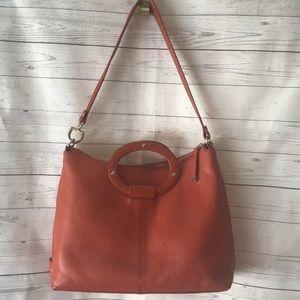 Kate Spade Pumpkin Color Pebble Leather handbag